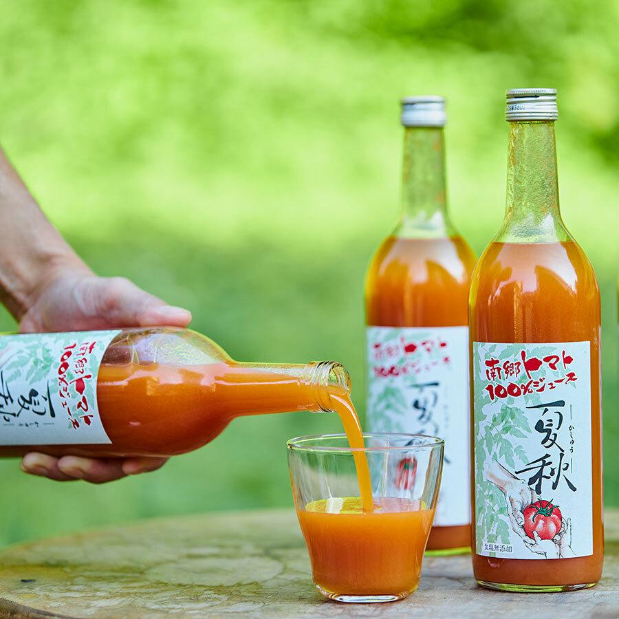 トマトそのもののバランスのとれた甘みと酸味、凝縮味がたっぷりと味わえる。