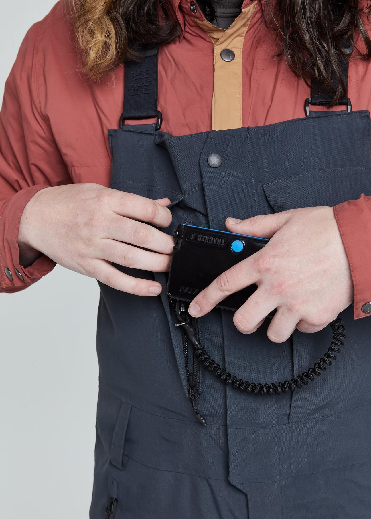 Dリング付き胸部トランシーバーポケット