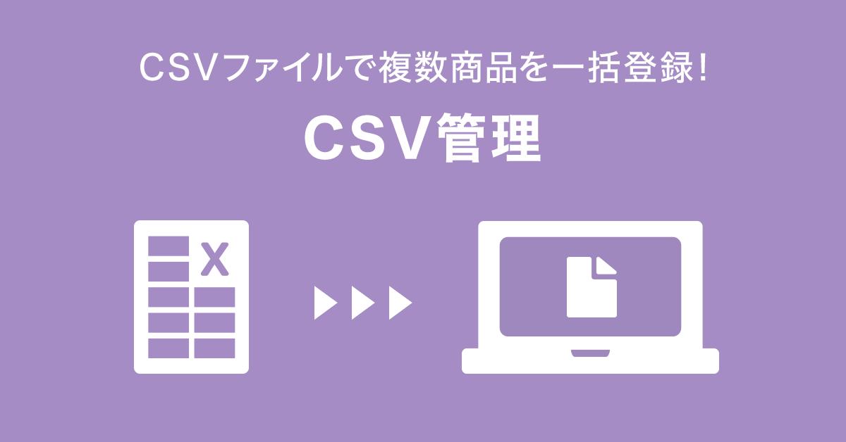 CSV管理