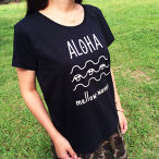 ★Ladies★ ALOHA mellow waves Tee