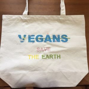 トートバッグ VEGANS SAVE THE EARTH