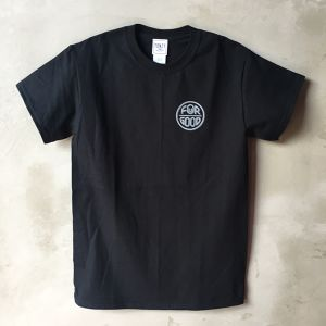 YONZY [FOuR GOOD] Tシャツ designed by hemlen BLACK