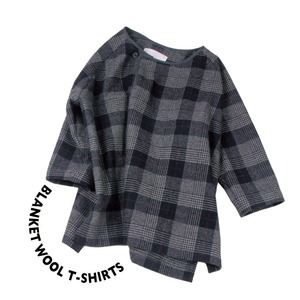 Blanket Wool T-shirt [ Gray Check ]
