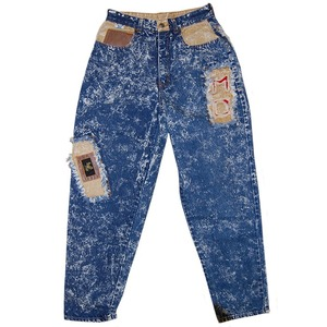 """Fierce Eagle"" Vintage Chemical Denim Pants Used"