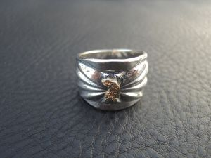 18K EAGLE FACE BUTTERFLY RING 17号【LARRYSMITH】