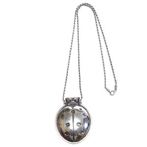 Reed & Barton 70's Vintage Sterling Silver Ladybug Whistle Necklace
