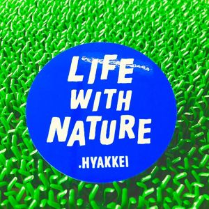 .HYAKKEI sticker【LIFE WITH NATURE<Blue>】