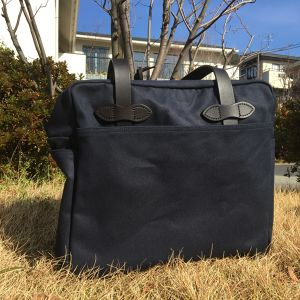 "FILSON ""TOTE BAG with ZIPPER(navy)"""