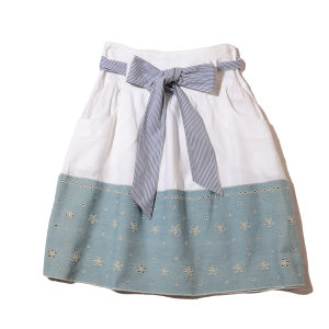 PF by paola frani  panel  skirt with  ribbon