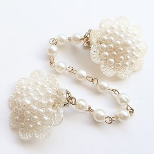 pearl flower sweater clip[s-191]