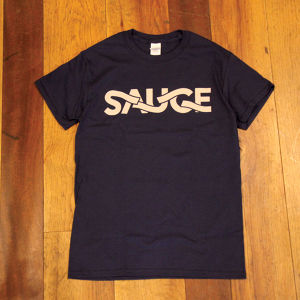 SAUCE CYCLE / TAPE LOGO T-shirt NAVY