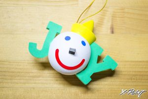 Jack in the box HOLIDAY JOY(green) Antenna Topper