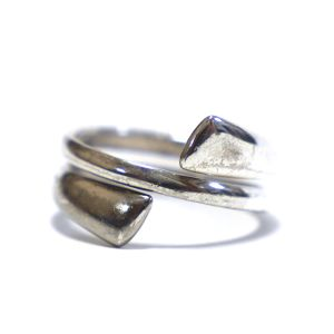 Vintage Sterling Silver Mexican Bypass Ring