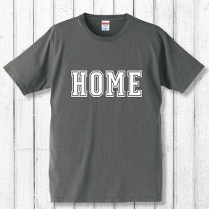 HOME Tシャツ/ダークグレー