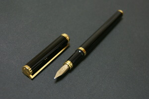 '80s S.T.デュポン 純正漆黒 S.T.Dupont (中字) 18ct     00767
