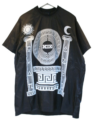 KTZ PILLAR PRINT NYLON T-SHIRT ピラー プリント ナイロン Tシャツ / BLACK-WHITE 50%OFF