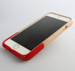 for iPhone 6/6Sウッドケース レッド