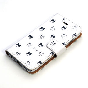 手帳型iPhone case 白黒猫(6、6s、7用)