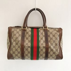 OLD GUCCI sherry line boston bag