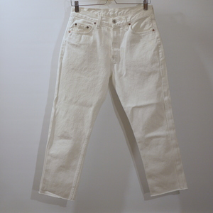 "Tapered fringe denim ""White"" W29"