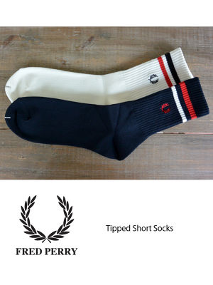 FRED PERRY フレッドペリー Tipped Short Socks