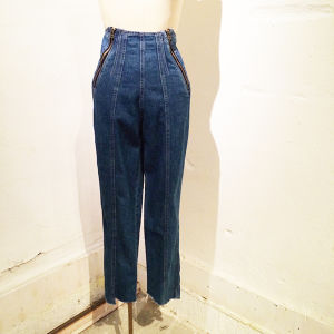 W ZIP Denim Pants
