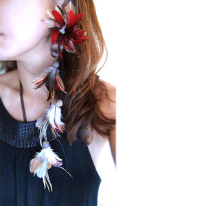 Patricia & Didi フェザーピアス : Red Tabby :PD013