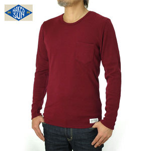 014005016(KNIT SEW C-NECK L/S )BURGUNDY