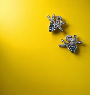 Yves Saint Laurent rhinestone earrings
