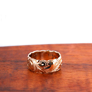 Hawaiian Jewelry 14K GOLD 8mm幅RING
