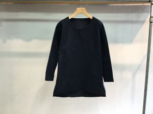 "theSakaki""theBang 織物 U/neck Long Sleeve Navy"""