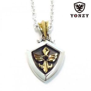 YONZY Phoenix Necklace Brass ブラックスピネル