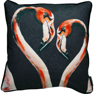 Jimmie Martin Cushions Black double flamingo