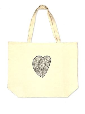 Hand Drawing Tote Bag / Heart