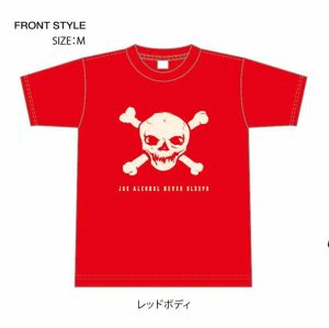 ご予約商品 特典バッチ付き JOE ALCOHOL NEVER SLEEPS 4,0oz T-shirts col.red