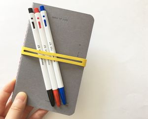 note / pen / rubberband SET _ C