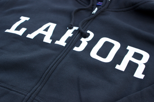 LABOR Logo Zip Hood BLACK
