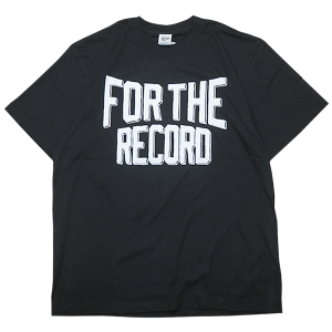 """""""For The Record Ruff Hand Edition"""" Tee Black"""