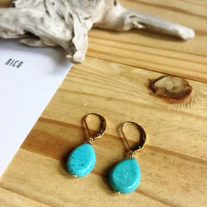 【14kgf】Turquoise02~サーフィン&ビーチピアス~
