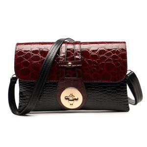 New 2016 Patent Leather Crocodile Women Messenger Bags Ladies  Crossbody Shoulder Bags For Women Casual Bag Ladies Sac A Main