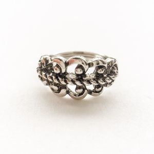 """AVON"" French Filigree silver ring #12-13[r-56]"