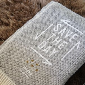"SILENT POETS × minka LITHUANIA BLANKET -PLAIN- ""SAVE THE DAY"""