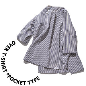 Over T-shirt *pocket type [ Stripe ]