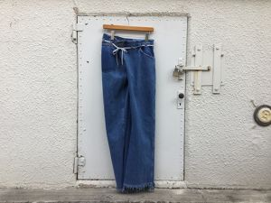 "MAISON EUREKA "" VINTAGE REWORK BIGGY PANTS BLUE "" A"