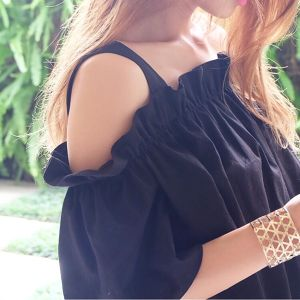 Black Off Shoulder Top40%OFF