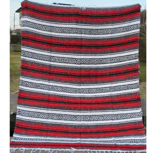 FALZA Handwoven BLANKET red