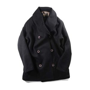 SHAWL COLLAR PLATINUM MELTON COAT