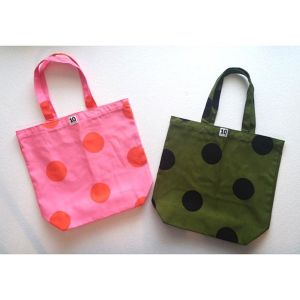 Large Cotton Tote dot by 10 swedish designers SWEDEN