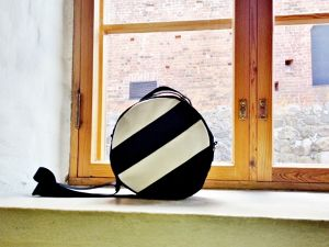 DOTLINE BAG | BLACK×WHITE