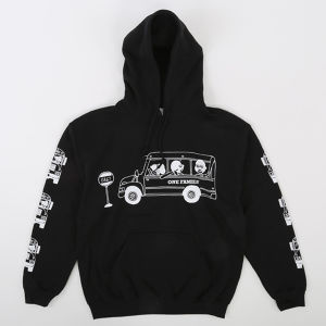 One Family Co.×0867 / Pullover Hoodie / School Bus / Black